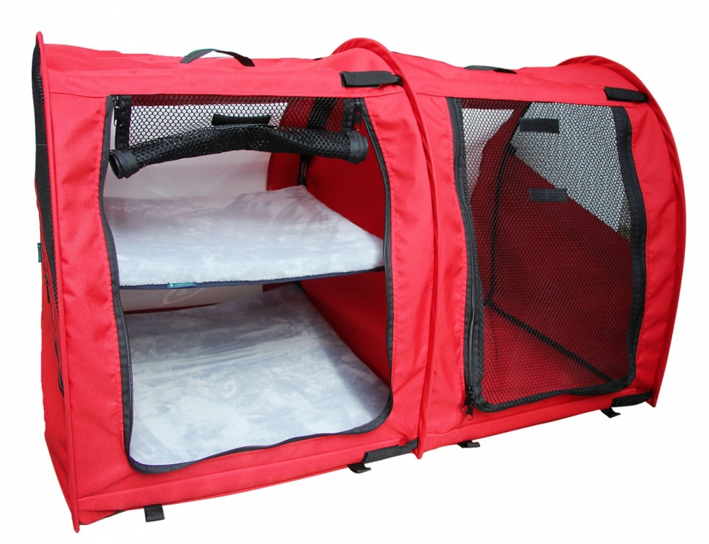 Pet Tent For Shows With Mesh Doors Medium Double Red